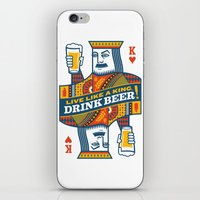 King of Beers iPhone & iPod Skin