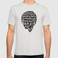 Inside Harrys Head Mens Fitted Tee Silver SMALL