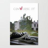 Converse It Canvas Print