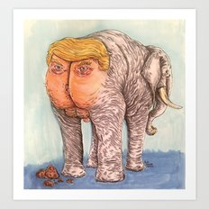 Trumped Elephant Art Print