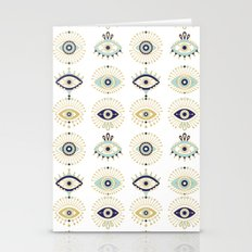 Evil Eye Collection on White Stationery Cards