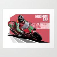 Norifumi Abe - 1994 Suzuka Art Print