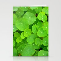 Green Nasturtium Leafs Stationery Cards