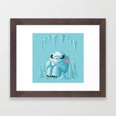 somewhere on the ice planet Framed Art Print