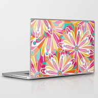 Laptop & iPad Skin featuring Festive Flowers by Shelly Bremmer