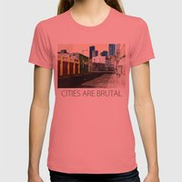 Urban Brutality  Womens Fitted Tee Pomegranate SMALL