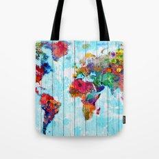 Woodside World Map Tote Bag