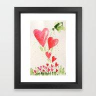 Sprinkle Hearts Framed Art Print