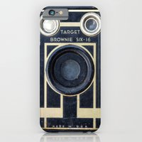 iPhone & iPod Case featuring Vintage Brownie Camera by Typography Photography™
