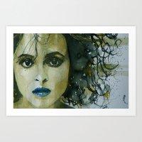 Helena Bonham Carter Art Print