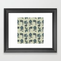 Botanical Florals | Vintage Blue Framed Art Print