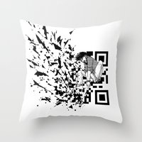 Break a (QR) Code Throw Pillow