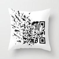 Break A (QR) Code Throw Pillow