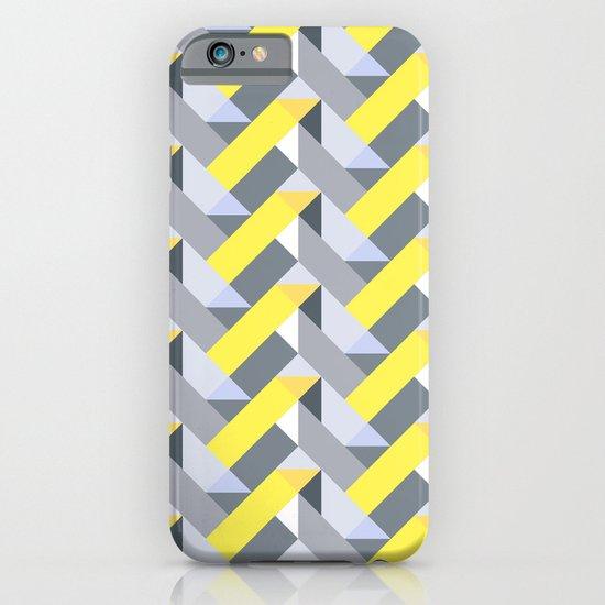 Herringbone geometric yellow iPhone & iPod Case