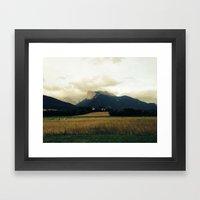 Harvest before rain Framed Art Print