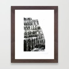 babel tower Framed Art Print