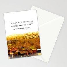 the past is like a foreign country. Stationery Cards