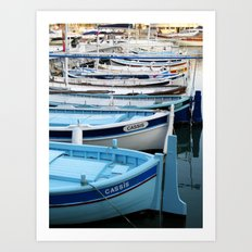 Boats of Cassis, Cote d'Azur French Riviera Art Print