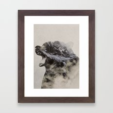 Bear In The Fog Framed Art Print
