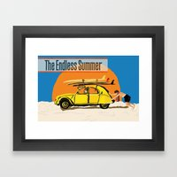 An Endless Summer bummer Framed Art Print