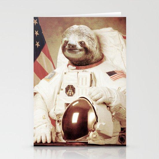 Sloth Astronaut Stationery Card
