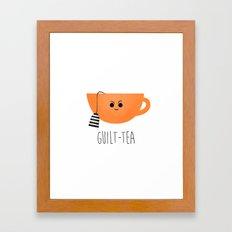 Guilt-tea Framed Art Print