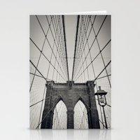 Brooklyn Bridge B/W   Ne… Stationery Cards