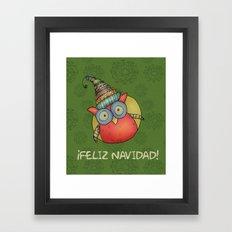 Puki Owl Framed Art Print