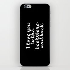 I Love You To The Bookstore And Back - Version II (inverted) iPhone & iPod Skin