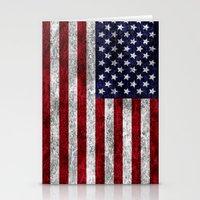 USA Grunge Flag Stationery Cards