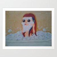 Bubble Beard! Art Print
