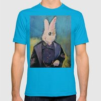 White Rabbit Mens Fitted Tee Teal SMALL