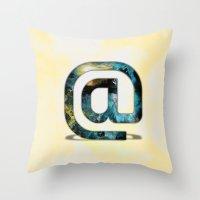 At Sign {@} Series - Silom Typeface Throw Pillow