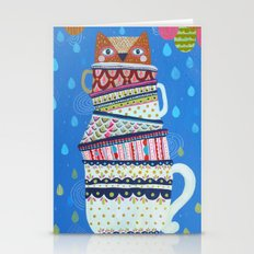 Owl Cups Stationery Cards