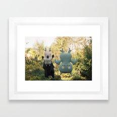 hanging around Framed Art Print
