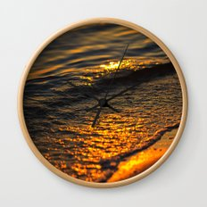 Gold Waters Wall Clock