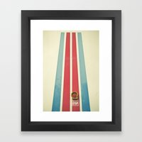 Emergency Stop Framed Art Print