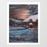 Chocolate Box Cottage In… Art Print
