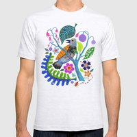 Bird Botanical Mens Fitted Tee Ash Grey SMALL