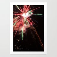 Spectacular Red And Gree… Art Print