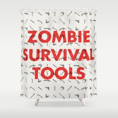Zombie Survival Tools - Pattern 'o tools Shower Curtain