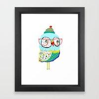 Bobble Hat Owl. Framed Art Print