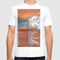 Rust and Metal Mens Fitted Tee SMALL White