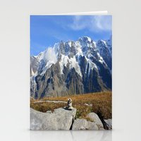 Trail Blazing The Alps Stationery Cards