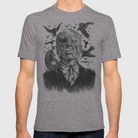The Birds Attack Mens Fitted Tee Tri-Grey SMALL