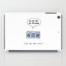 Stop the bad music iPad Case