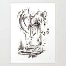 New Moon Melody Art Print
