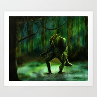 Art Print featuring THE SWAMP by Viggart
