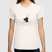 The Happy Shower Womens Fitted Tee Natural SMALL