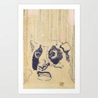 Bear Lip  Art Print